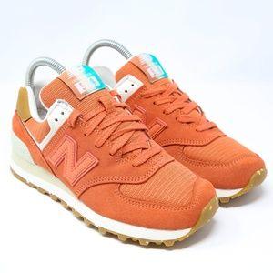 New Balance 574 WL574XEA Surf Orange Running Shoe